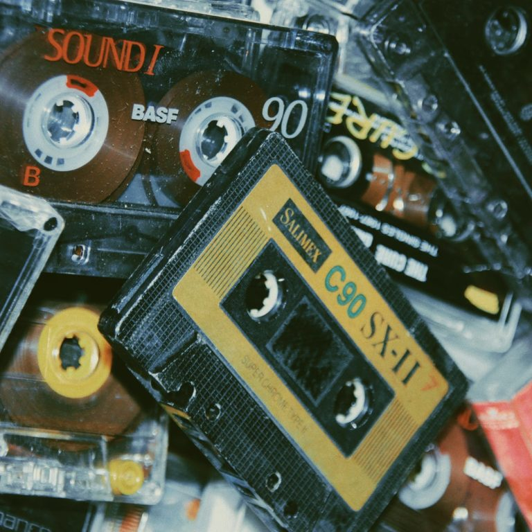 pile of cassette tapes